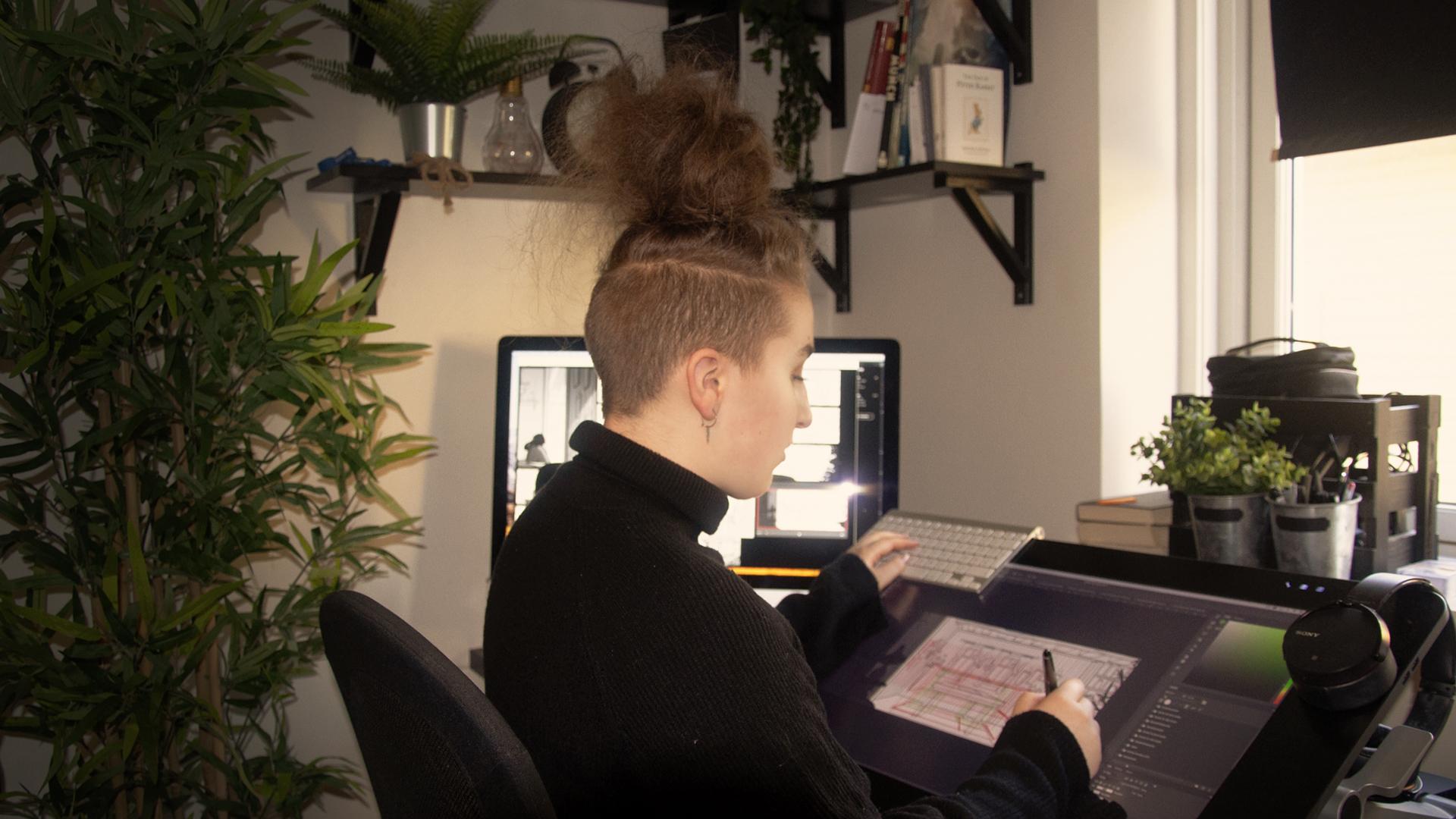 Samarbeider om å lage animasjonsfilm fra hvert sitt hjem