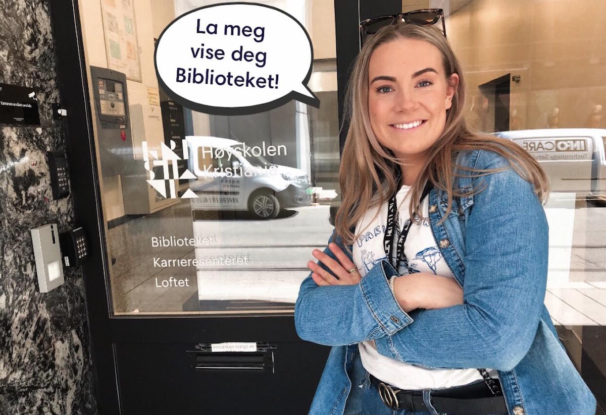 Bli med på biblioteket på Høyskolen Kristiania